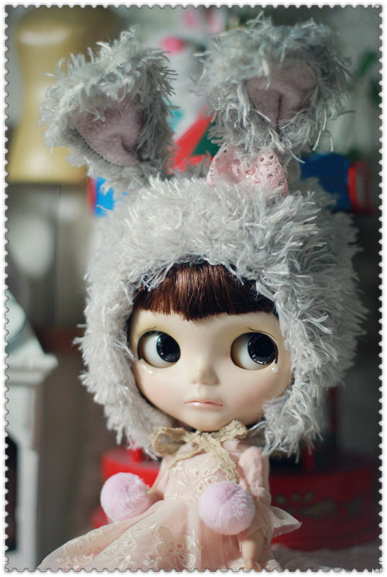 Bunny hat (Gray)For Blythe design by ChillyQi