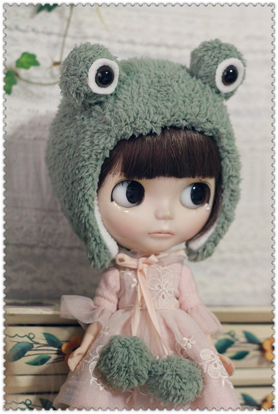 Frog Hat For Blythe  design by ChillyQi