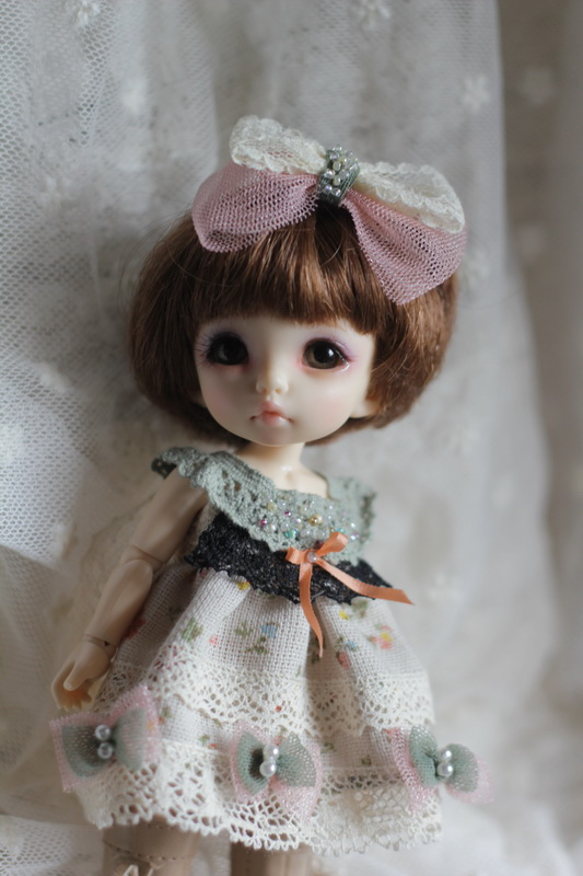 Green Lace Dress for Pukifee or Lati Yellow design by ChillyQi.