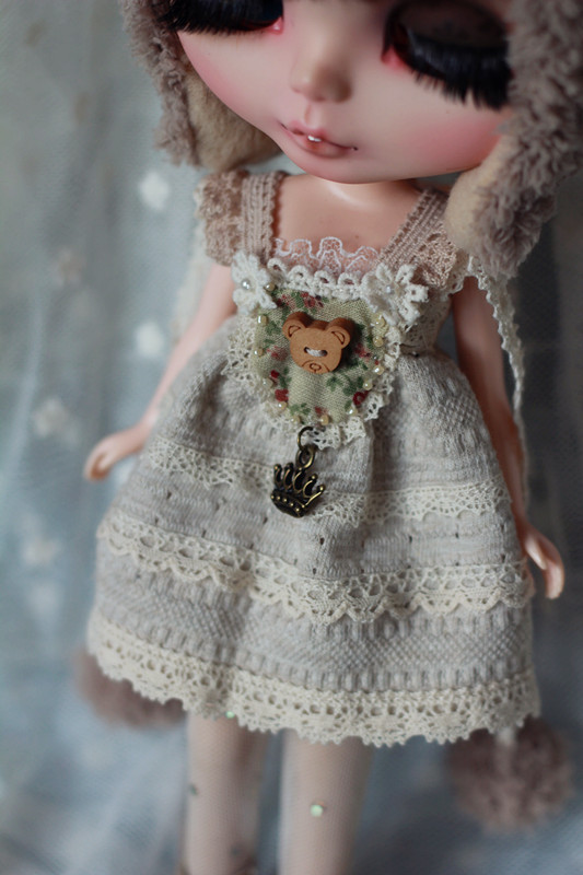 Bear Dress Set For Blythe  design by ChillyQi