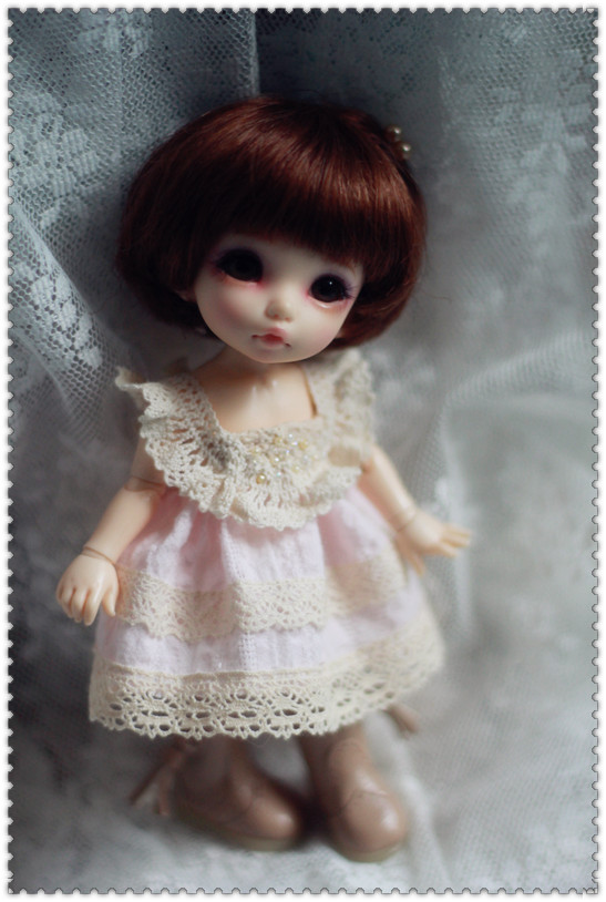 Pink Dress for Pukifee or Lati Yellow Design and Make by ChillyQi