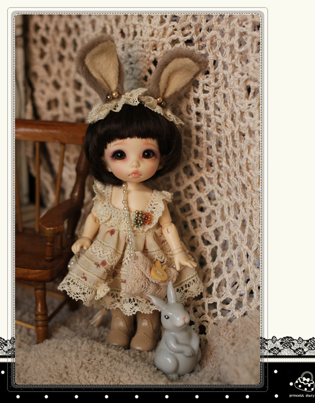 Bunny Dress Set for Pukifee / Lati Yellow Design and Make By Chilly QI