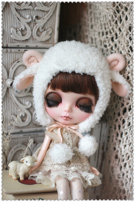 Sheep hat For Blythe design by ChillyQi