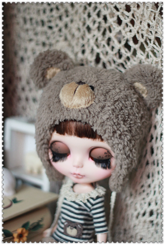 Bear hat For Blythe design by ChillyQi