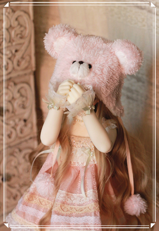 MSD-Pink Bear Dress Set design by ChillyQi --Limited edition to celebrate my website reload.